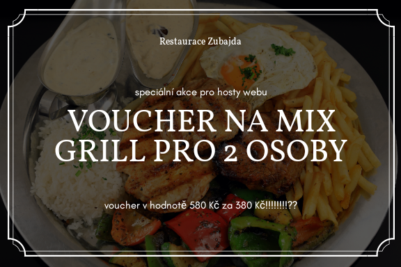 Kupte si VOUCHER na MIX GRILL