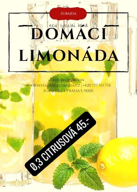 Domácí citrusová limonáda